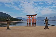 Itsukushima XXVII (Douguerreotype) Tags: japan hiroshima miyajima torii gate red lantern water sea buddhist temple shrine