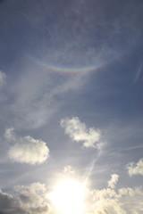 Rainbow shaped sun dog (Jo Evans1 - Off and on for a while) Tags: sun dog parhelion prince wales dock swansea smq rainbow shaped