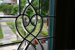 Cut's Like a Knife (BKHagar *Kim*) Tags: bkhagar glass door window beveled leaded view antique vintage athens al alabama