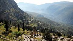 Delphi: Looking Down (Aionae) Tags: delphi greece parnassos landscape mountain ruins