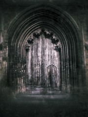 'Outer Sanctum'                 (Explored 20.05.17...........see description) (Milesofgadgets ) Tags: snapseed iphoneography iphone6splus zeissexolenswideangle stmaryredcliffebristol petermiles petermiles stmaryredcliffe churchentrance doorway