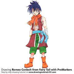 Romeo Conbolt from Fairy Tail with ProMarkers [Speed Drawing] (drawingtutorials101.com) Tags: romeo conbolt fairy tail manga anime japanese shonen magazine hiro mashima promarkers promarker alcohol markers marker color colors coloring draw drawing drawings how timelapse video