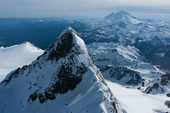 Mount Shuksan Summit Pyramid and Mount Baker Aerial (www.mikereidphotography.com) Tags: baker shuksan aerial helicopter northcascades mountbaker landscape peak snow snowscape mountain washington northwest