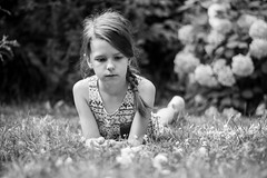 (Esther'90) Tags: portrait portraitphotography portraiture portraitmood portraits littlegirl little girl summer summertime summerafternoon afternoon blackandwhite blackandwhiteportrait grass garden bokeh bokehbackground