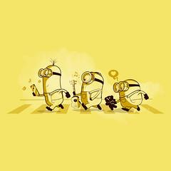 Minions crossing the street (www.instagram.com/thiagor6/) Tags: arte ilustração design vetor thiagor6 desenho