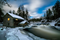 Lapland fantasy II. (darklogan1) Tags: lapland finland oulanka nighphotography longexposure river mill rapids snow ice clouds night logan darklogan1 winter