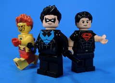 Young Justice Boys (MrKjito) Tags: lego minifig dc comics comic young justice boyw dick grayson wally west super boy nightwing kid flash cartoon show