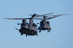 DOUBLE BLACK (Kaiserjp) Tags: 0403736 1003788 160thsoar ch47 chinook ftlewis grayaaf jblm mh47 mh47g usarmy blackops specialoperations helicopter army military training formation approach landing