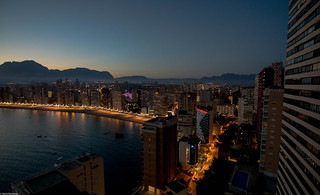 Dusk of Benidorm
