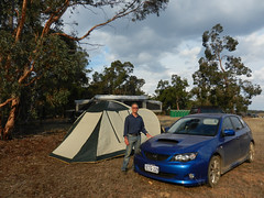 Ready for the night (LeelooDallas) Tags: western australia bannister tree eucalyptus tent camp landscape bush sky cloud dana iwachow nikon s9200