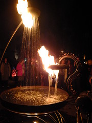 Water Aflame (failing_angel) Tags: 020916 london southwark bankside tatemodern tate greatfire350 compagniecarabosse firegarden greatfireoflondon