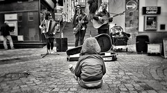 The Critic (Mark.L.Sutherland) Tags: thecritic critic streetphotography streetlife mono monochrome blackandwhite bw infant boy childhood child busking girls guitar squeezebox accordian inverness highlands marksutherland samsung smartphone androidography galaxys7 cellphone cameraphone phoneography singing saxophone sitting watching behind myboy son myson williamsutherland highstreet