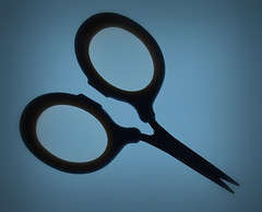 Silhouette (Smiffy'37) Tags: silhouette stilllife black blue macro object scissors macromondayssilhouette