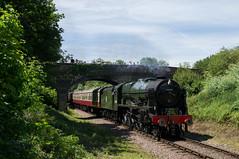 46100 - Lynch Farm Bridge - 03.06.2017 (Tom Watson 70013) Tags: peterborough train railway nvr nene valley 46100 royal scot ferry meadows lynch farm bridge