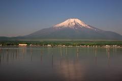 Fujisan (Myajima) Tags: 日本 japon japan yamanakako fuji fujisan montagne mountain neige snow eau water lac lake expositionlongue longexposure