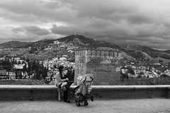 IMG_4355 (MariaCafagna) Tags: granada alhambra mother mum baby bn bw blackandwhite andalusia spain espana