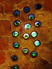 168/365/6 (f l a m i n g o) Tags: thursday 2017 8th june wall light winebottles 365days project365