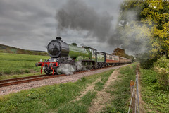 LNER 8572 (brian_stoddart) Tags: trains transport trees railways steam vintage colour countryside composite green rural sky