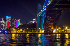 VIVID 2017 Vivid Sydney Harbour under bridge