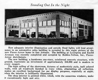 Holden-Nelson Inc., Pierce-Arrow, San Antonio TX, 1929