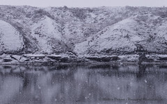 June Snow Fall (Mathieu Dumond) Tags: inexplore canada arctic nunavut kugluktuk coppermine river hills mud snow spring summer june snowfall white nature landscape abstract lumix mathieudumond umingmakproductions