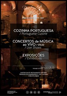 GASTRONOMIA, ARTE & CONCERTOS AO VIVO - DUETOS DA SÉ - Restaurante Café Bar - ALFAMA - LISBOA - PORTUGAL -GASTRONOMY, ART & LIVE MUSIC CONCERTS