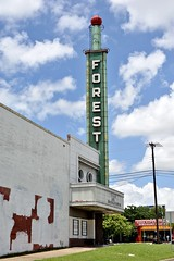 Forest Theater - Dallas,Texas (Rob Sneed) Tags: usa texas dallas martinlutherkingjrboulevard neon vintage theater urban urbex i45 i45andmlkboulevard texana americana architecture globe advertising interstatetheatercircuit metroplex vacant decay marquee