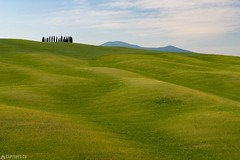 Waved hills - Tuscany (Captures.ch) Tags: 2017 black blue brown capture cypresses gray green hills italy landscape may morning nature olives orange red sky spring trees tuscany valdorcia white wine