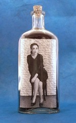 This Is Elaine, Hopelessly Elegant (LenCowgill) Tags: len cowgill art drawing mixed media foundobjects bottle
