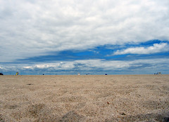 """the beach (""""One who sits by the fire"""") Tags: beach sandybeach clouds eastcoast"""