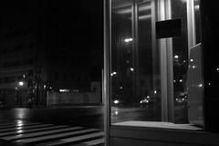 Alone at night (しまみゅーら) Tags: fujifilm xe2 ebc fujinon 28mm f35 monochrome bw