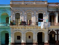 Cuba (richard.scott1952) Tags: alley architecture building stone carving decoration scrollwork ornate solid ruins old windows vintage wall culture heritage history color colorful colour colourful cool crazy creative travel tourist trip cuba havana weather warm heat light shadow sun sunshine