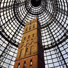 Melbourne Central - Shot Tower (Marian Pollock) Tags: australia melbourne shottower cbd glassroof cone tower victoria leadpipeshotfactory melbournecentral building
