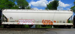 voyer - cole (timetomakethepasta) Tags: voyer cole freight train graffiti art grainer dlr gare aex benching selkirk new york photography