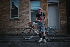 June 13th, 2017 #overalls #city #streetphotography #cooltones #moody #24mm #canon #models #bike #lifestyle #goldenhour #wisconsin #june #summer (Human Visuals) Tags: overalls city streetphotography cooltones moody 24mm canon models bike lifestyle goldenhour wisconsin june summer