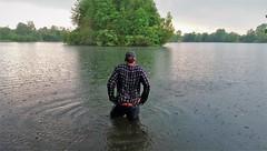 roadtrip cooling (marcostetter) Tags: rain wet wetclothing wetclothes wetlook wetjeans wetshirt lake landscape body jeans bluejeans top20waterpix