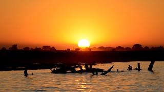 Sunset caravan, Botswana (large format!)