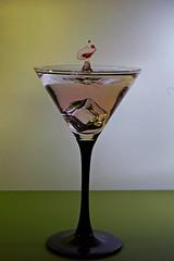 Pink Gin (D-Rat) Tags: sigma105mmmacro nikon d5300 waterart watercollision waterdrops macro highspeedphotography watersculpture droplets dropcontroller dropcontrollerbt gin pink pinkgin cocktail