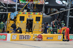 Kyle Busch's pit box at Bristol Motor Speedway (Hazboy) Tags: hazboy hazboy1 tennessee bristol motor speedway auto car racing nascar food city 500 monster series april 2017 race racetrack