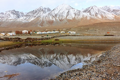 Mirrored (views@vista) Tags: clouds dawn india ladakh lake mountains nature outdoor pangongtso reflection rocks snow vacation water