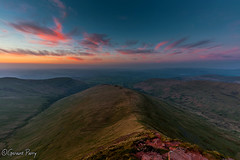 Brecon (parry101) Tags: south wales southwales nature geraint parry geraintparry landscape brecon beacons brecnbeacons penyfan corndu corn du pen y fan mountain mountains range silhouette sunset colours vibrant colour orange purple red peak peaks national park nationalpark cribyn sky skies blue yellow view views