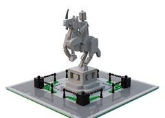 Equestrian statue (O Wingård) Tags: lego statue equestrian horse bluerender