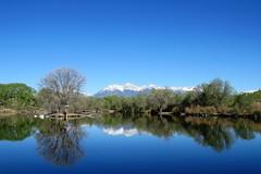 Colorado Morn (Patricia Henschen) Tags: sands sandslake statewildlifearea swa lake mountains reflection reflections salida colorado sawatch range