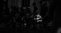 Drums (elgunto) Tags: street dark people music fiesta celebration contrast poblenou barcelona blackwhite bw sonya7 canonfd50mm14 manuallense