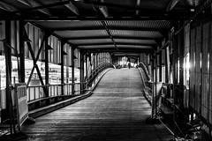 Blackjack / blending in (Özgür Gürgey) Tags: 2015 21 bw d7100 hafen hamburg nikon bridge curves lines repetition überseebrücke germany 35mm