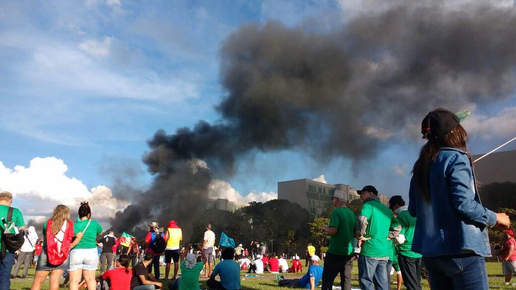 Policia Militar reprime a 9ª Marcha da Classe Trabalhadora em Brasília