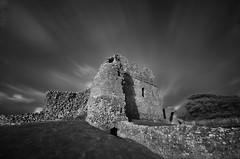 Ogmore castle B&W [explore] (neath stan the man) Tags: wales ogmore castle cloudporn stone wfc sky nikon lee 1020sigma longexposure walls