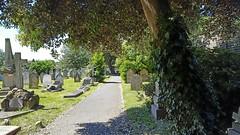 No Exit ! (standhisround) Tags: chiswick london westlondon uk stnicholas churchgraveyard trees wall graves path