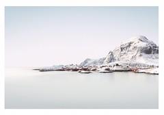___/\ (Artery-Crea) Tags: water nopeople redhouses landscape sea rock moutains snow winter norway lofoten juliencarcano fineartphotography longexposure