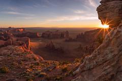 Sunrise at Hunts Mesa (Matt Payne Photography) Tags: arizona grandscenic huntsmesa landscape loxia21 monumentvalley navajoland sandstone sonya7r2 sunflare sunrise sunstar desert